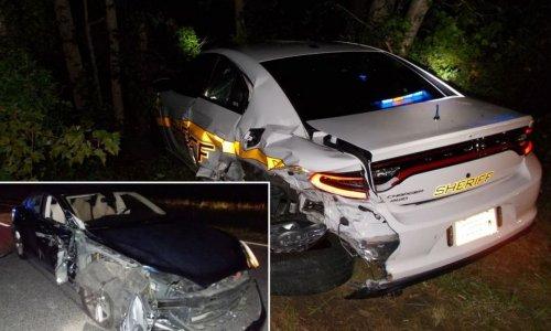 Так себе кино: автопилот Тесла протаранил машину полиции (ВИДЕО)